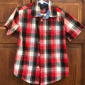 Short sleeve button down, boys size 4/5